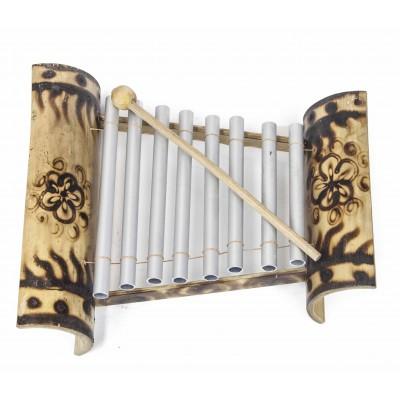 Xilofón metal bambú Deco 8 notas
