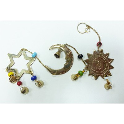 Campana de viento Sol Luna Estrellas