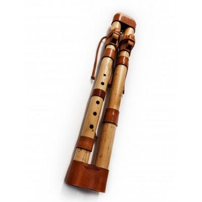 Flauta nativa Kiowa doble