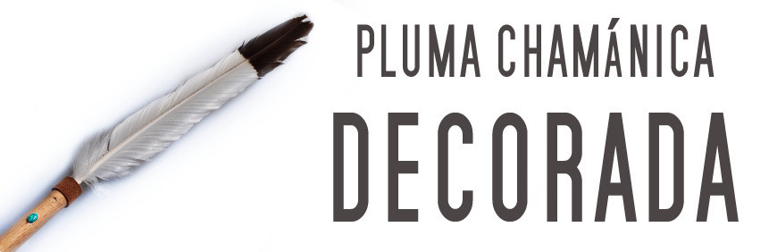 Pluma Chamánica decorada